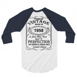 Birthday Gift Ideas for Men and Women was born 1958 3/4 Sleeve Shirt | Artistshot
