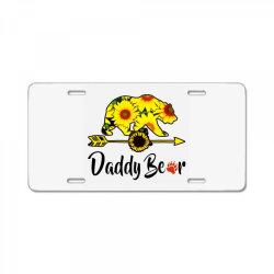 daddy bear sunflower License Plate | Artistshot