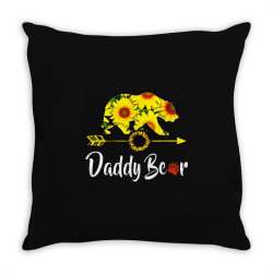 daddy bear sunflower Throw Pillow | Artistshot