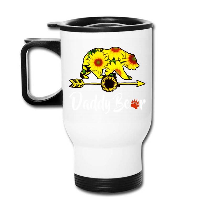 Daddy Bear Sunflower Travel Mug | Artistshot