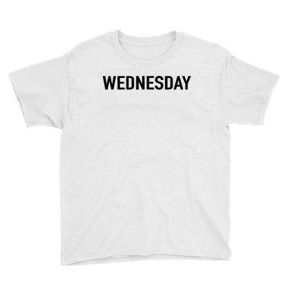 Days Of The Week 'wednesday' Distressed Youth Tee Designed By Ainazee Tees