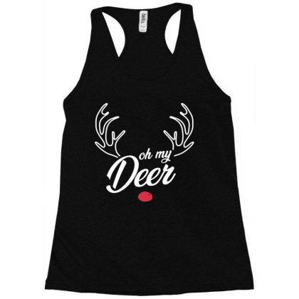 Trendy Oh My Deer Christmas Premium Racerback Tank Designed By Creative Tees