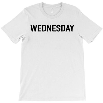 Days Of The Week 'wednesday' Distressed T-shirt Designed By Ainazee Tees