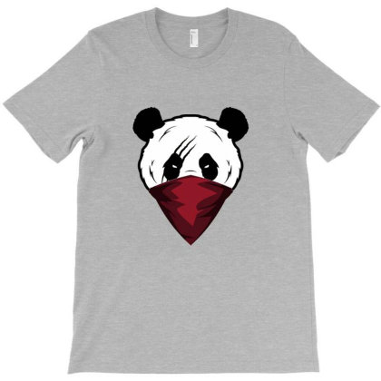 Panda Wear Red Scarf On Mouth T-shirt Designed By Şen
