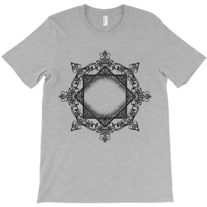 Decorative Ornate Floral Mandala Art T-shirt Designed By Chiks