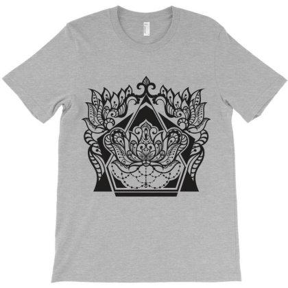 Decorative Ornate Floral T-shirt Designed By Chiks
