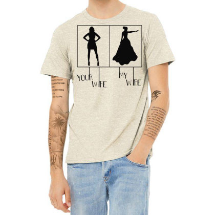 Your Wife My Wife Heather T-shirt Designed By Vanode Art