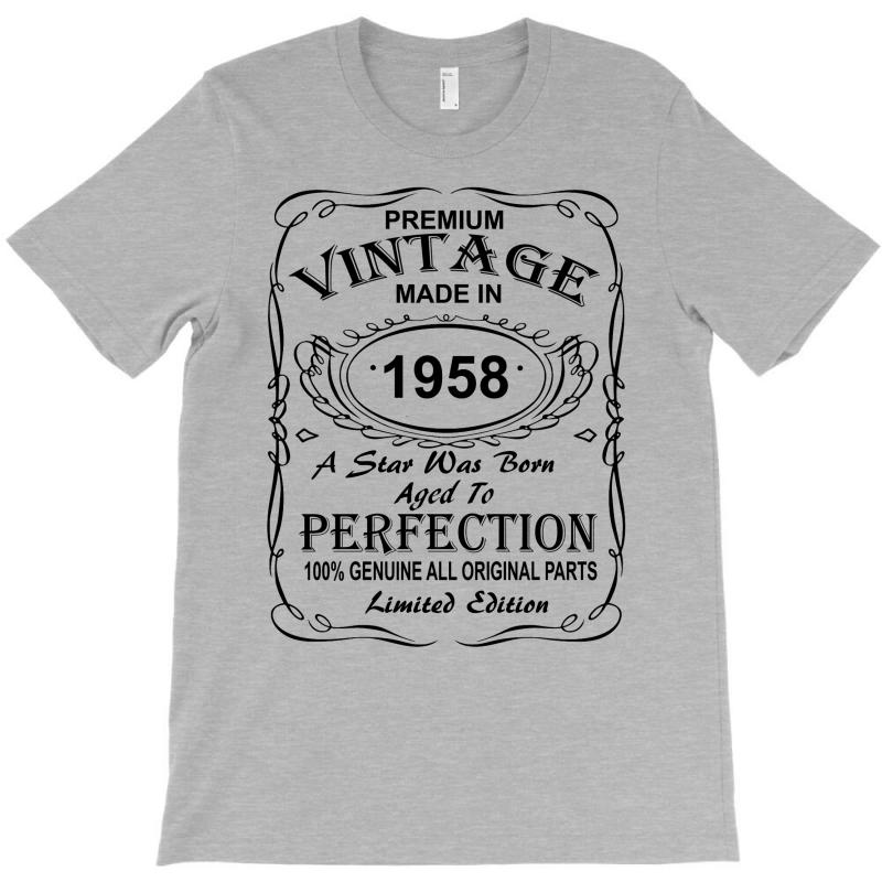 Birthday Gift Ideas For Men And Women Was Born 1958 T-shirt | Artistshot