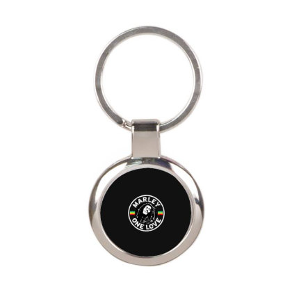 Bob Marley   One Love Round Keychain Designed By Frizidan
