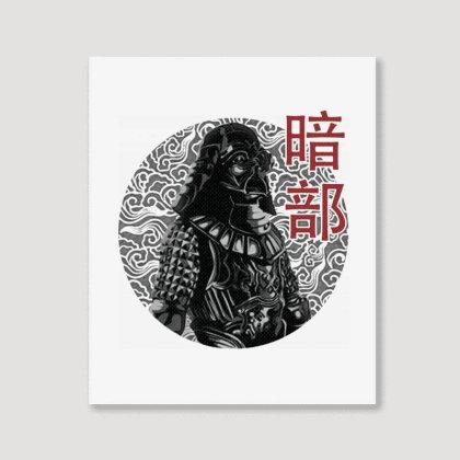 Samurai Of The Dark Side Portrait Canvas Print Designed By Blqs Apparel