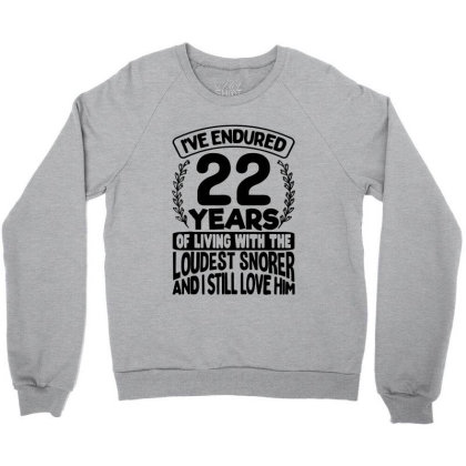 22nd Wedding Anniversary Gifts For Her 22 Years Of Marriage Crewneck Sweatshirt Designed By Mirazjason