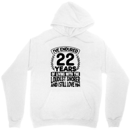 22nd Wedding Anniversary Gifts For Her 22 Years Of Marriage Unisex Hoodie Designed By Mirazjason