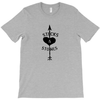 Sticks And Stones T-shirt Designed By Zenci