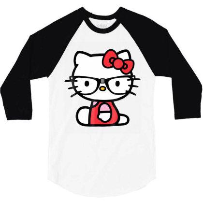 Nerd Glasses Tee Shirt 3/4 Sleeve Shirt Designed By Cuser3772
