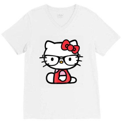 Nerd Glasses Tee Shirt V-neck Tee Designed By Cuser3772