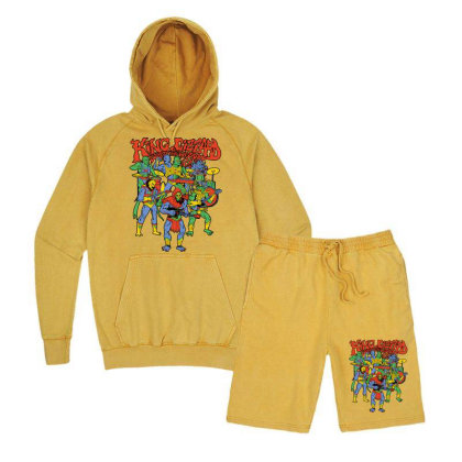 King And Gizzard And The Lizard Wizard Vintage Hoodie And Short Set Designed By Mostwanted