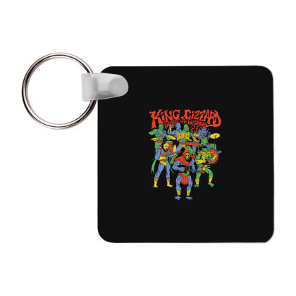 King And Gizzard And The Lizard Wizard Frp Square Keychain Designed By Mostwanted
