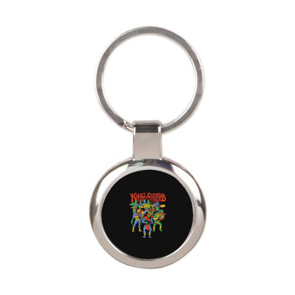 King And Gizzard And The Lizard Wizard Round Keychain Designed By Mostwanted
