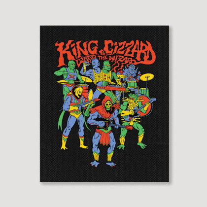 King And Gizzard And The Lizard Wizard Portrait Canvas Print Designed By Mostwanted