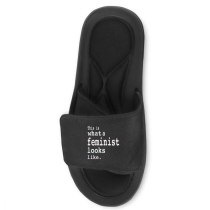 This Is What  A Feminist Look Like Slide Sandal Designed By Frizidan