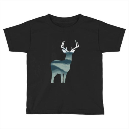 Antler In Mountains Toddler T-shirt Designed By Thevibrantthread
