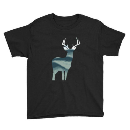 Antler In Mountains Youth Tee Designed By Thevibrantthread