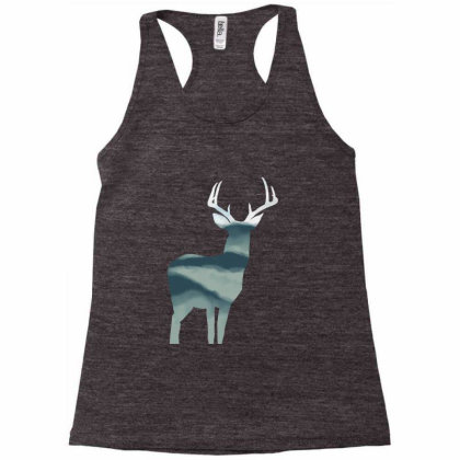 Antler In Mountains Racerback Tank Designed By Thevibrantthread