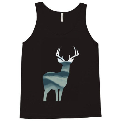 Antler In Mountains Tank Top Designed By Thevibrantthread
