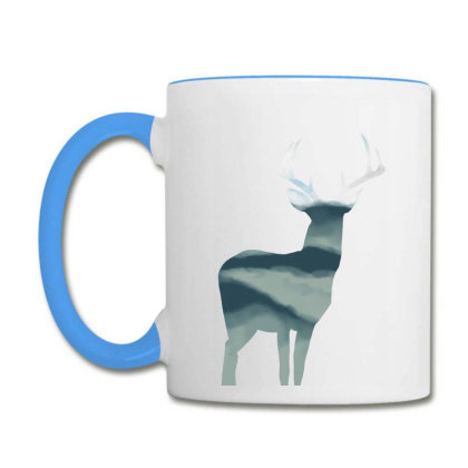 Antler In Mountains Coffee Mug Designed By Thevibrantthread