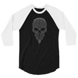 striped skull 3/4 Sleeve Shirt   Artistshot