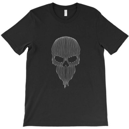 Striped Skull T-shirt Designed By Kinsaka