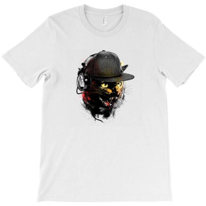 Dj Cat T-shirt Designed By Buanans