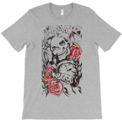 Floral Skull T-shirt Designed By Smriti_v.laxmi