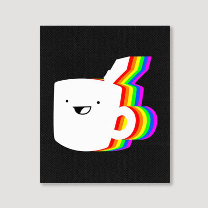 Drawfee Supports Pride Portrait Canvas Print Designed By Meganphoebe