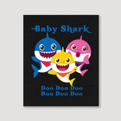 Baby Shark Doo Doo Doo Portrait Canvas Print Designed By Meganphoebe