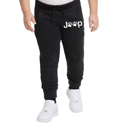 Funny White Jeep Paw Prints Dogs Youth Jogger Designed By Meganphoebe