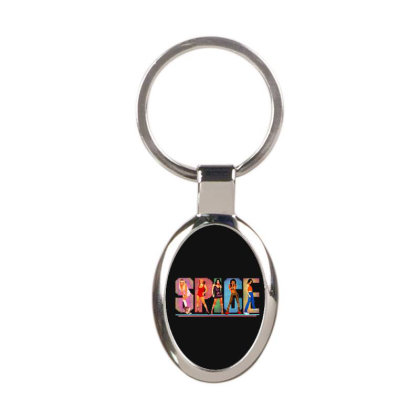 Spice Oval Keychain Designed By Blqs Apparel