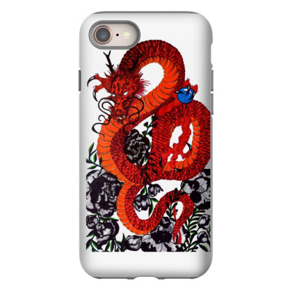 Psychedelic Colourful Dragon Iphone 8 Case Designed By Smriti_v.laxmi