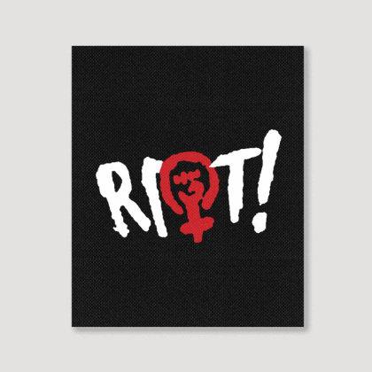 Riot! Portrait Canvas Print Designed By Blqs Apparel
