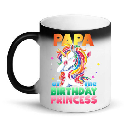Papa Of The Birthday Prin  Uni  Bday Girl Party Gift T Shirt Magic Mug Designed By Ryan2204