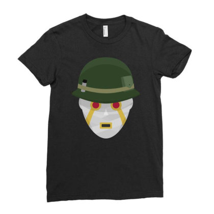 Terrible Soldiers Funny Ladies Fitted T-shirt Designed By Funtee