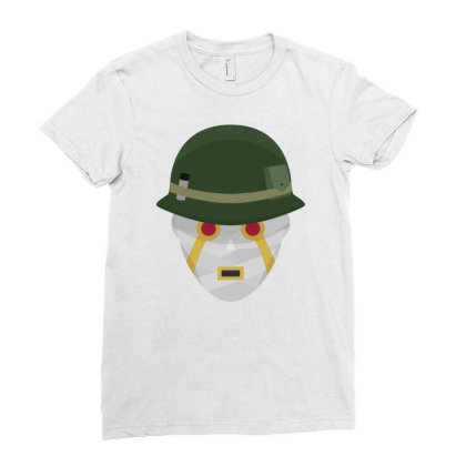 Terrible Soldiers Ladies Fitted T-shirt Designed By Funtee
