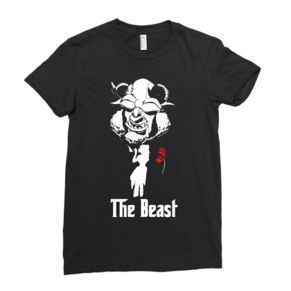 The Beast Ladies Fitted T-shirt Designed By Funtee