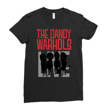 The Dandy Warhols Ladies Fitted T-shirt Designed By Funtee