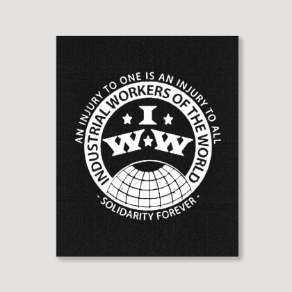Workers Of The World Portrait Canvas Print Designed By Blqs Apparel