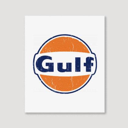 Gulf Racing Portrait Canvas Print Designed By Blqs Apparel