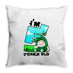 i'm 5 years old birthday Throw Pillow | Artistshot