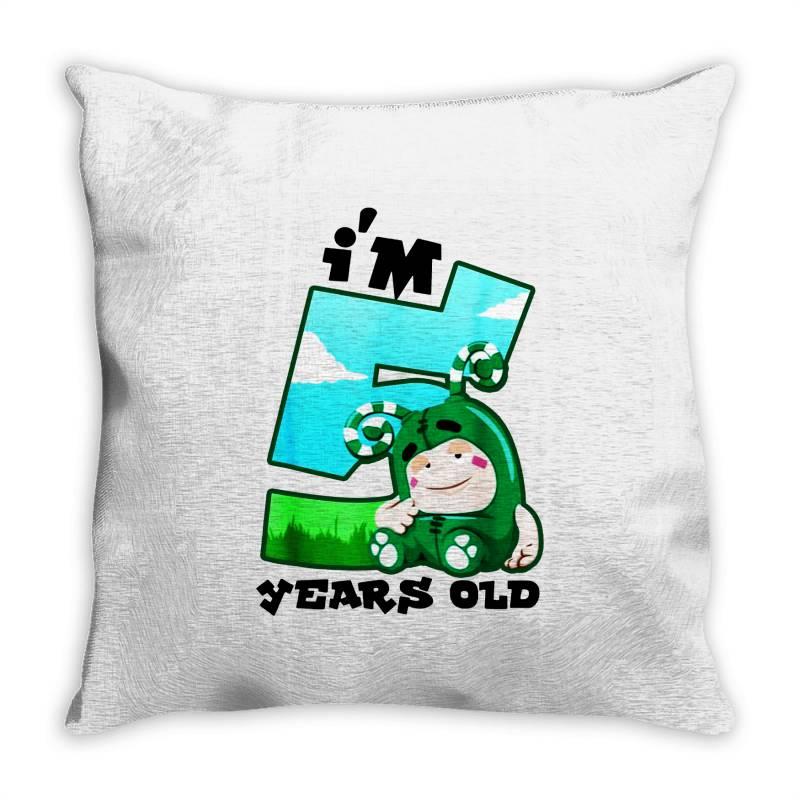 I'm 5 Years Old Birthday Throw Pillow   Artistshot
