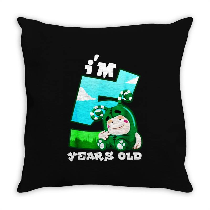 I'm 5 Years Old Birthday Throw Pillow | Artistshot