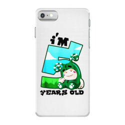 i'm 5 years old birthday iPhone 7 Case | Artistshot